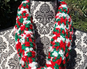 Christmas color cowl scarf