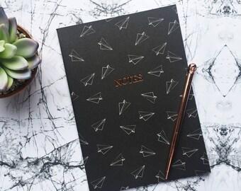 Paper aeroplane A5 notebook