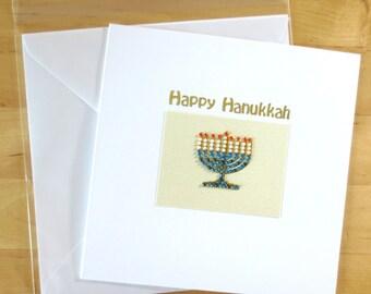 Hanukkah card, hanukah,Chanuka, Chanukah, Jewish holiday card, Menorah, Jewish  Celebrations, Jewish cards, Jewish festivals, Handmade Card
