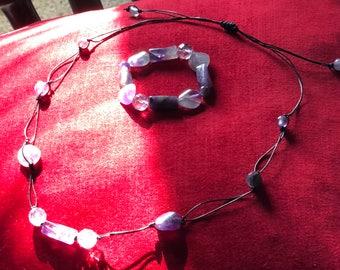 Amazing Amethyst Necklace and Bracelet Set