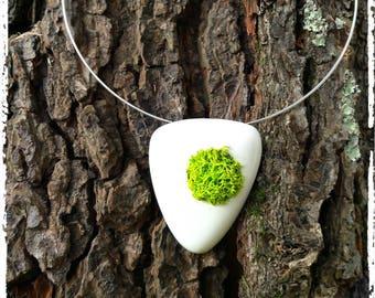 Designer necklace green greenery © PIER'LI