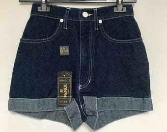 Shorts Fendi vintage in jeans anni 90