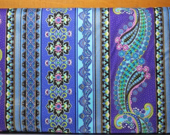 Mystique by Chong-A Hwang for Timeless Treasures.  This is a companion fabric for the peacock panel listed on our site.