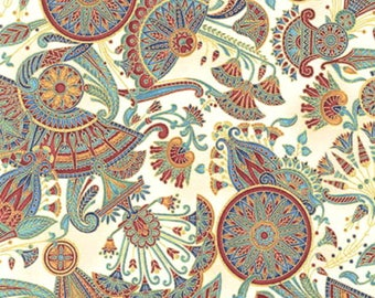 Valley Of The Kings 2, Spice, Fabric by Robert Kaufman.  This is a companion fabric for the panel listed on our site.