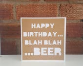 Birthday card, Papercut card, Male card, Card for boyfriend, Man card, Funny birthday, Beer birthday, Paper cut card, Greeting card
