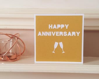Anniversary card, Papercut card, Greetings card, Paper anniversary, 1st anniversary, Card for husband, Card for wife
