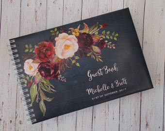 Personalised Guest Book Boho Theme