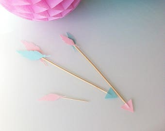 6 - pink and green jade - Indian arrows decor birthday Indian-candy bar