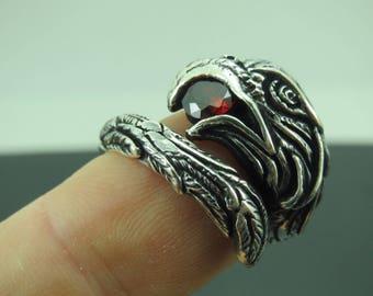 Turkish Handmade Jewelry 925 Sterling Silver Ruby Stone Men's Ring Sz 9