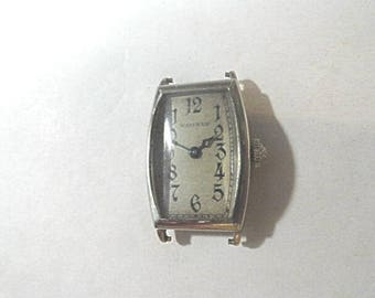 Vintage 1930s Waltham 14K Gold Filled Wrist Watch 19mm by 34mm Running