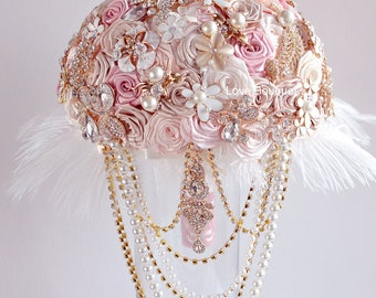 Wedding Brooch Bouquet for a Bride to her Wedding Dress from Jewelry