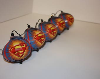 Superman Ornaments : Single or Set of 5