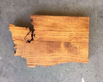 MINI Washington State Sign, WA State Wood Sign, Washington State Wall Art, Washington State Home Decor, Rustic Washington Sign