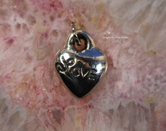 Handmade 925 Sterling Silver 'Love' Heart # 18-33