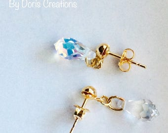 Beautiful Earrings, Gold Filled, Sharosky Crystal