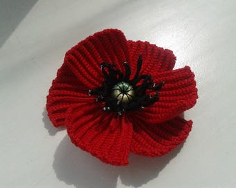 Crochet flower 6 pieces