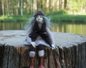 OOAK art doll Sophy, art doll, polymer clay doll