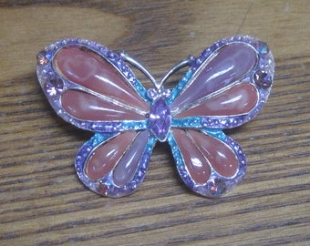 Gorgeous Butterfly Brooch with a lot of color