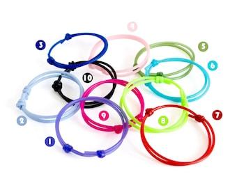Rubber Bracelet Men, Rubber Bracelets For Adults, Rubber Bracelet Adjustable Design Bands. Youth Size Too. Love, Valentines Black Cords