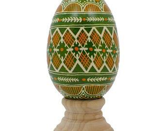 Diamond Real Goose Eggshell Hand Decorated Ukrainian Easter Egg Pysanky