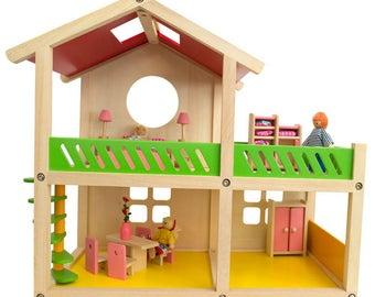 "18.5"" Kids Wooden 1 Bedroom Toy House"