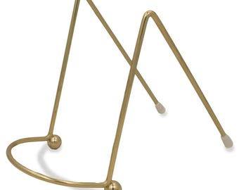 """4"""" Gold Tone Metal Easel Stand Display Holder"""