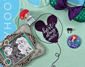 "Disney Balloon Ariel ""Best Day Ever"" Tanktop/T-shirt in Mint - Little Mermaid, Disney Princess, Parkbound, Mickey Mouse, Disney World"