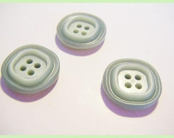 Water green lot of 3 vintage buttons
