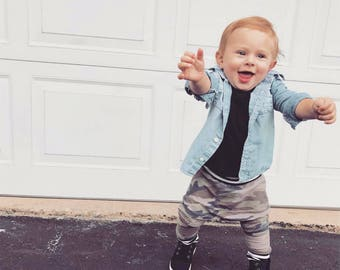 SALE SALE Camo & stripes cuff harem pants sizes newborn up to 5t