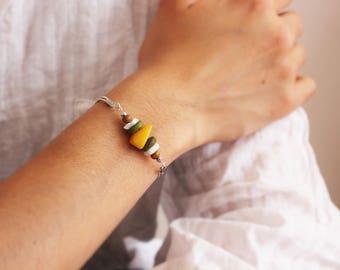 Organic - wood and stone bracelet