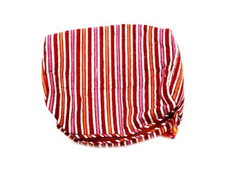 Indian Cotton Banjara Stripe Design Clutch Bag in Multi Color
