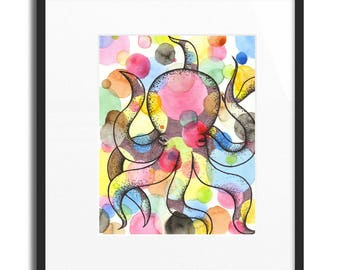 "Party-pus Octopus Print 11""X14"""