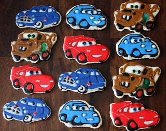 Cars Decorated Sugar Cookies