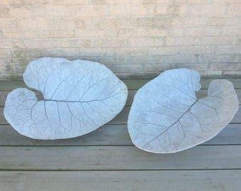 Burdock Concrete Leaf Casting - Concrete Leaf Casting - Leaf Casting -  Leaf Art - Concrete Leaf Art - Garden Art - Garden Sculpture