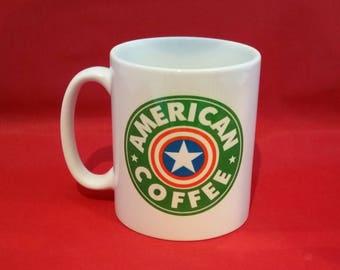 Marvel Captain America Starbucks Inspired Coffee Mug 10oz