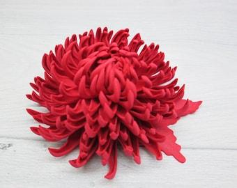 Girl gift Baby hair clips Daughter gift Flower hair clip Toddler hair clips Red hair clip Flower girl hair Red flower hair Flower girl clip