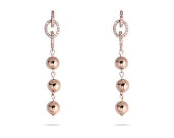 Sculptured Draped Pearl Earring-limited earrings-Gold