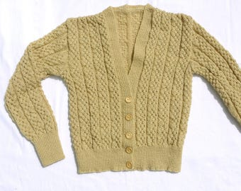 1930s 1940s Style Handknitted Lacy Cardigan
