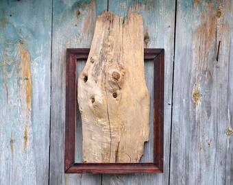 Reclaimed wood art, Vintage frame wall art, Reclaimed wood wall art, Wood wall art, Wall art sculpture, Rustic wall art, Old wood frame art.