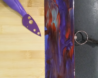 Bamboo serving board or cheese board customised with original artwork