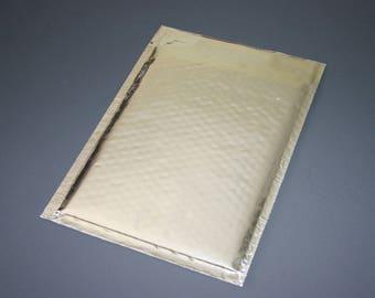 10 6x9 SILVER Metallic Bubble Mailers Size 0 Self Sealing Shipping Envelopes