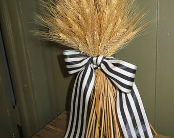 Wheat Sheaf, Standing Wheat, Wheat, Dried Wheat, Wheat Sheaf, Handmade Standing Wheat, Wheat Bouquet, Handmade  All Natural, Bearded Wheat