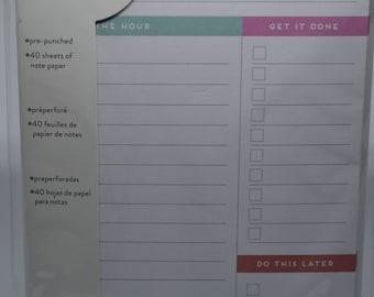 Daily Agenda Filler Paper