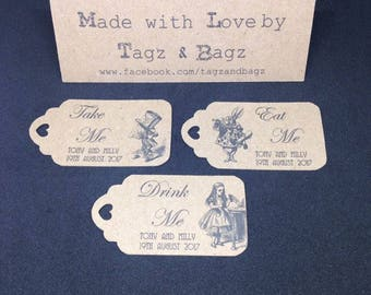 Alice in Wonderland favour tags