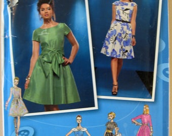 Simplicity 2444 Size D5 4-12 Project Runway Sewing Pattern Dresses Uncut