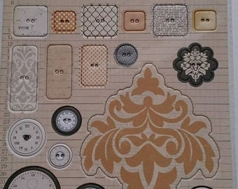 Teresa Collins Vintage Finds Collection Die cut chipboard elements 2