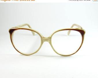 ON SALE Vintage Eyeglasses, Valentino 004, Cat Eye Glasses, 70s, Womens Sunglasses, Gift for Her, Vintage Sunglasses, Designer Glasses, Cat