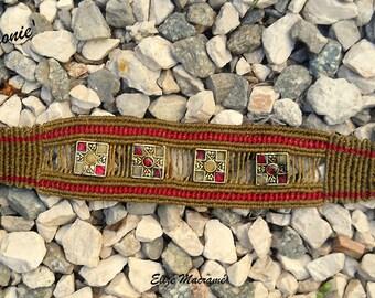 the harmony bracelet handmade macrame, unique piece