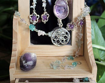 Seed of Life Chrystal Jewelry Set