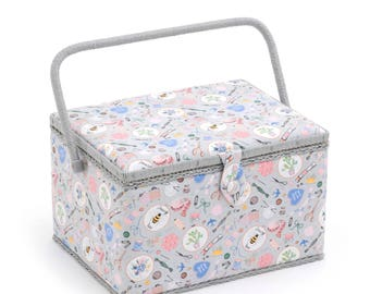 Hobbygift Large Size Sewing Notions Pattern Sewing Basket